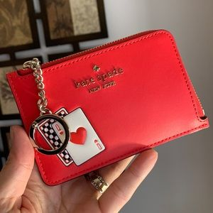 Authentic Kate Spade leather L-zip wallet/keychain